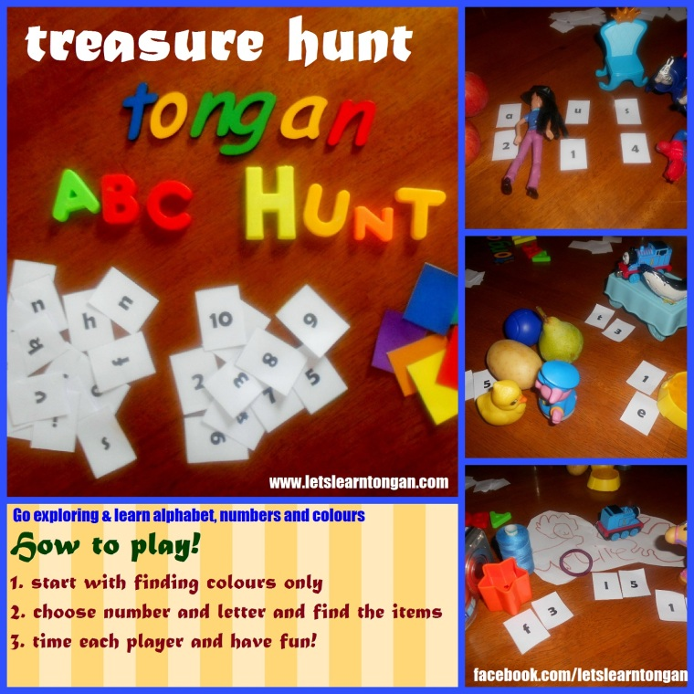 Game: treasure hunt for Tongan items