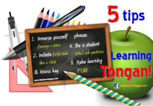 5 tips learning tongan