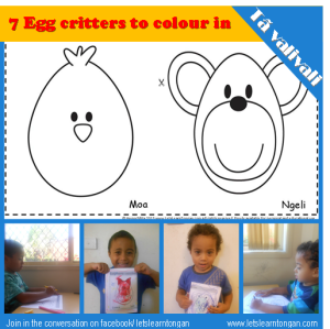 Egg Critters colouring In Activity