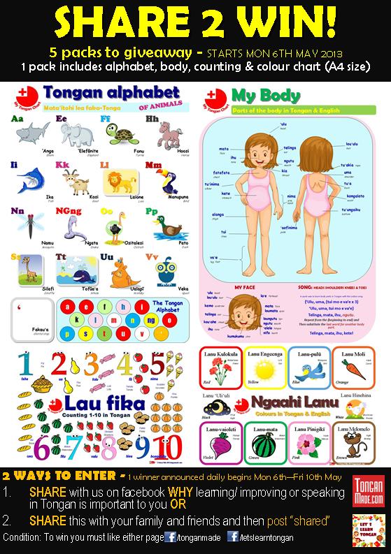 My Tongan Charts: Share 2 Win!