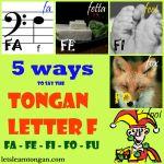 Tongan letter F